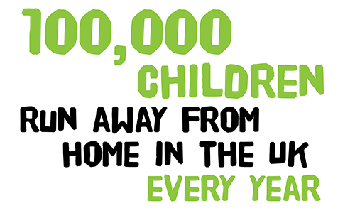 100,000 children run away from home every year in the UK