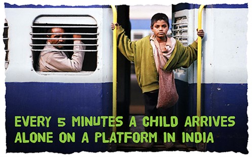 Every 5 minutes a child arrives alone on a platform in India