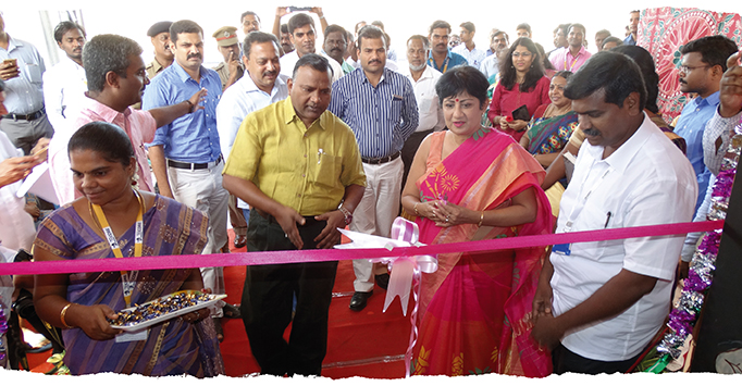 Chief Commercial Manager of Southern Railway Priyamvada Viswanathan celebrates the opening of the Child Help Desk