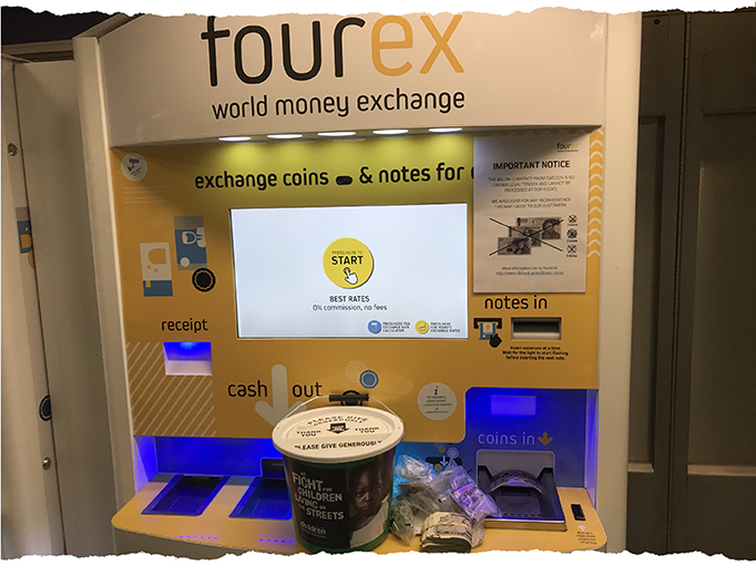 Donate your foreign currency with Fourex