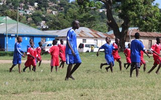 How we use football to reach street children in Tanzania