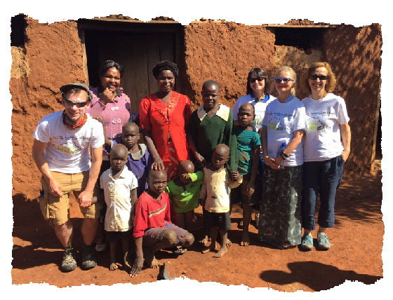 Visiting the children whose lives are changed by the Mount Kenya trip