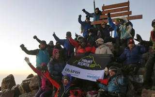 Mt Kenya trek raises £90K for children living on the streets